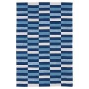Kaleen Matira Blue Indoor/Outdoor Area Rug; 3' x 5'