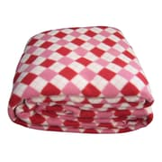 DaDa Bedding Checkered Polar Blanket; King