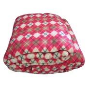 DaDa Bedding Checkered Polar Blanket; Full