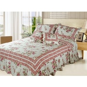 DaDa Bedding French Country Quilt Set; Twin