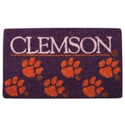 Team Sports America NCAA Clemson Welcome Graphic Printed Doormat