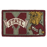 Team Sports America NCAA Mississippi State Welcome Graphic Printed Doormat