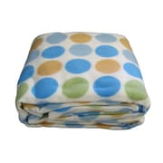 DaDa Bedding Polka Dot Polar Blanket; King