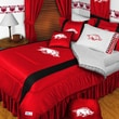 Sports Coverage NCAA Arkansas Sidelines Comforter; Full/Queen