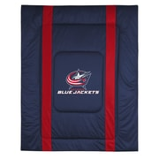 Sports Coverage NHL Columbus Blue Jackets Sidelines Comforter; Twin