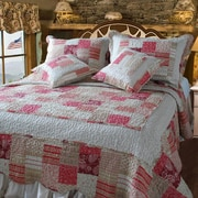DaDa Bedding Carnation 5 Piece King Quilt Set