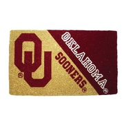 Team Sports America NCAA Oklahoma Welcome Graphic Printed Doormat