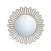 """Quoizel Reflections QR983 39.5""""H x 39.5""""W Wall Mirror, Antique Silver"""