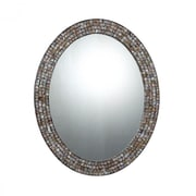 """Quoizel Reflections QR1253 30""""H x 24""""W Wall Mirror, Natural"""