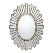 "Quoizel Reflections QR1413 37.5""H x 28""W Wall Mirror, Antique Silver"