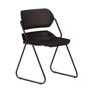 OFM Martisa 202-4PK-BLK-BLK Armless Plastic Stack Chair, Black