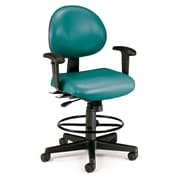OFM 241-VAM-AADK-62 Vinyl Task Chair with Arms, Teal