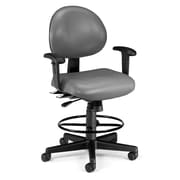 OFM 241-VAM-AADK-64 Vinyl Task Chair with Arms, Charcoal