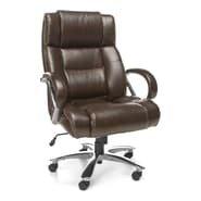 OFM Avenger 810-LX-BRN Leather Executive Chair, Brown