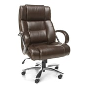 OFM Avenger Leather Big and Tall High-Back Office Chair, Brown