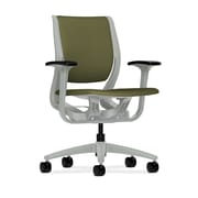 HON® HONRW101PTCU82 Purpose® Fabric Mid-Back Chair with Adjustable Arms, Olivine/Platinum