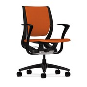 HON® HONRW102ONCU46 Purpose® Fabric Mid-Back Chair with Fixed Arms, Tangerine/Black
