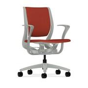HON® HONRW102PTCU42 Purpose® Fabric Mid-Back Chair with Fixed Arms, Poppy/Platinum