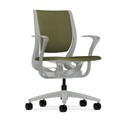 HON® HONRW102PTCU82 Purpose® Fabric Mid-Back Chair with Fixed Arms, Olivine/Platinum