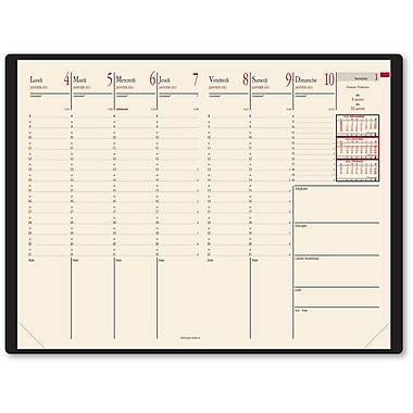 Quo Vadis 2016 Minister Prestige Weekly Vinyl Cover Planner, 9-1/2