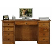 Eagle Furniture Manufacturing Classic Oak Computer Desk with Double Pedestal; Light Oak