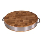 John Boos BoosBlock Maple Cutting Board with Stainless Steel Band