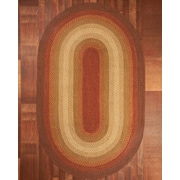 Natural Area Rugs Estilo Oval 100pct Natural Jute Hand Braided Area Rug; Oval 5' x 8'