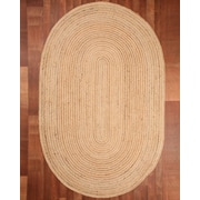 Natural Area Rugs Capistrano Jute Oval All Natural Fibers Hand Braided Area Rug; Oval 8' x 10'