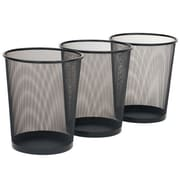 Seville Classics 6-Gal Mesh Waste Basket (Set of 3)