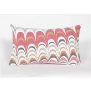 Liora Manne Visions III Floating Ink Lumbar Pillow; Pink
