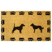 Imports Decor Creel Dog with Paws Doormat; 18'' x 30''