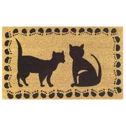 Imports Decor Tufted Two Cats Doormat; 18'' x 30''