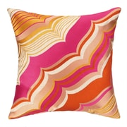 Trina Turk Malibu Embroidered Linen Throw Pillow; Pink
