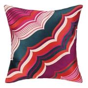 Trina Turk Malibu Embroidered Linen Throw Pillow; Berry
