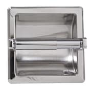ARISTA Recessed Toilet Paper Holder with Galvanized Mount Plate; Chrome