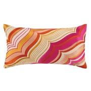 Trina Turk Malibu Oblong Embroidered Linen Throw Pillow; Pink