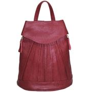 AmeriLeather Pleated Mini Backpack; Red