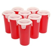 Lock & Lock 17 oz. Storage Tumbler (Set of 8); Red