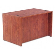 Alera Valencia Series Rectangular Top Executive Desk Shell; Medium Cherry