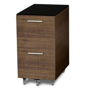 BDI USA Sequel 2-Drawer Mobile Tall  File; Walnut