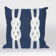Trans Ocean Visions II Double Knot Throw Pillow; Navy