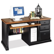 kathy ireland Home by Martin Furniture Southampton Oyster Single pedestal computer desk; Onyx