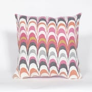 Liora Manne Visions III Floating Ink Throw Pillow; Pink