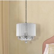 Harrison Lane 3 Light Drum Chandelier (Set of 2); White