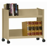 Sandusky Sloped-Shelf Book Cart; Tropic Sand