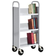 Sandusky Sloped-Shelf Book Cart; Dove Gray