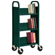 Sandusky Sloped-Shelf Book Cart; Forest Green