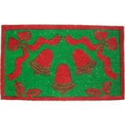 Imports Decor Tufted Christmas Bells Doormat; 18'' x 30''