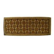 Imports Decor Woven Cross Board Doormat; 18'' x 47''