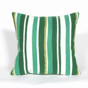 Liora Manne Visions II Emerald Stripe Throw Pillow